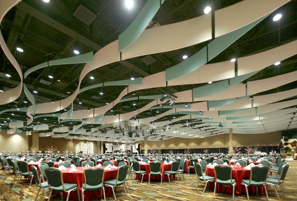 Fabric structures, custom, acoustic panels, Mississippi Coast Coliseum and Convention Center, Design: Eley Guild Hardy Architects