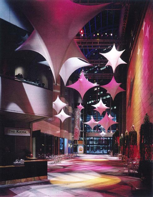 Fabric structures, ready-made, public spaces, Client: Sony