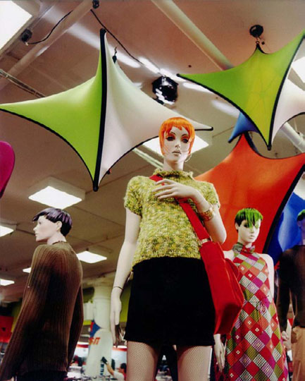 Fabric structures, ready-made, retail, Client: Macy's