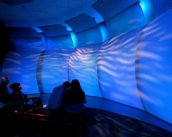 Transformit engineered and fabricated fabric components that help theater visitors experience the sensation of being underwater in a sinking ship.