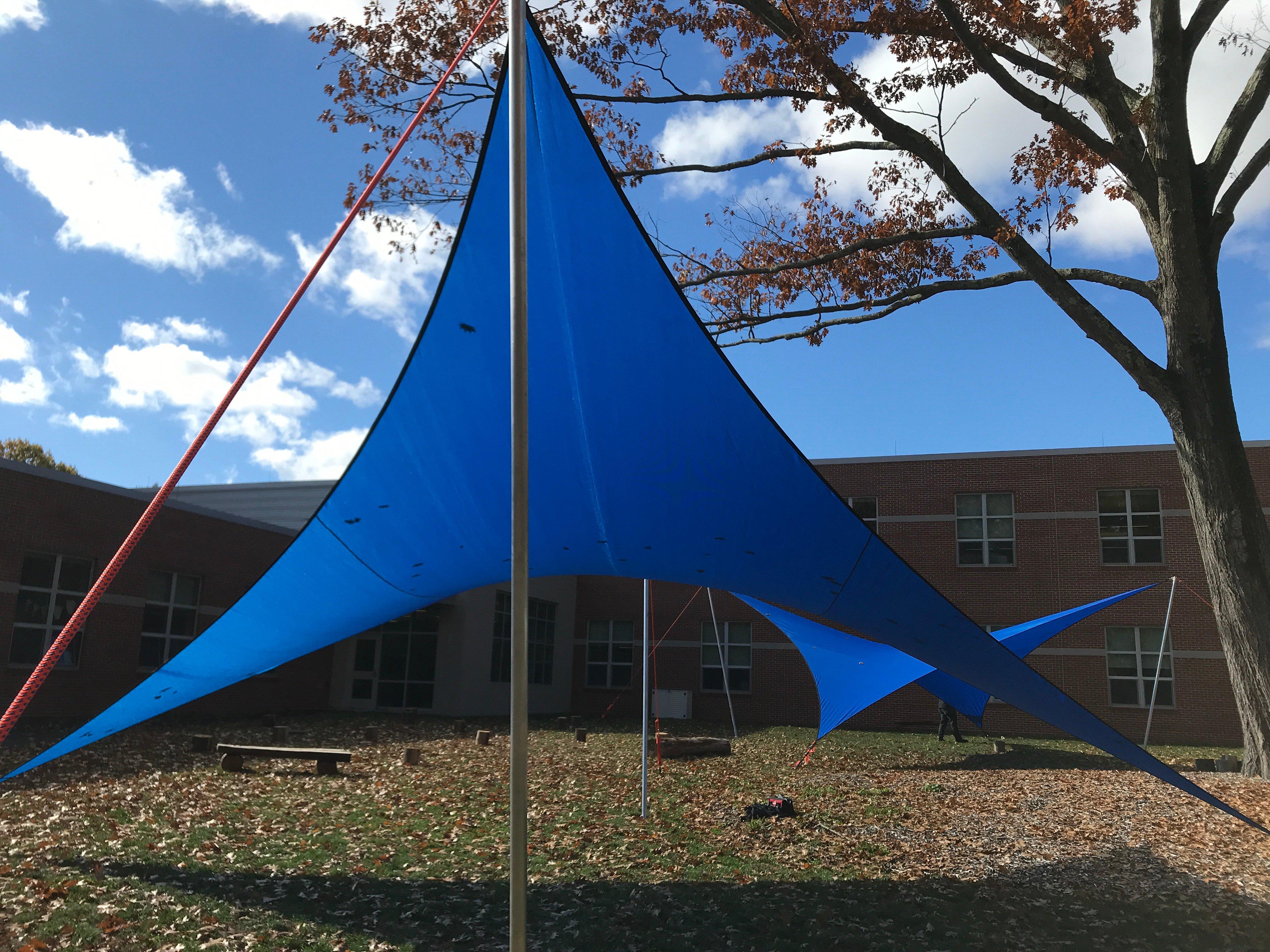 Rowe School Outdoor Classroom Shade Wings