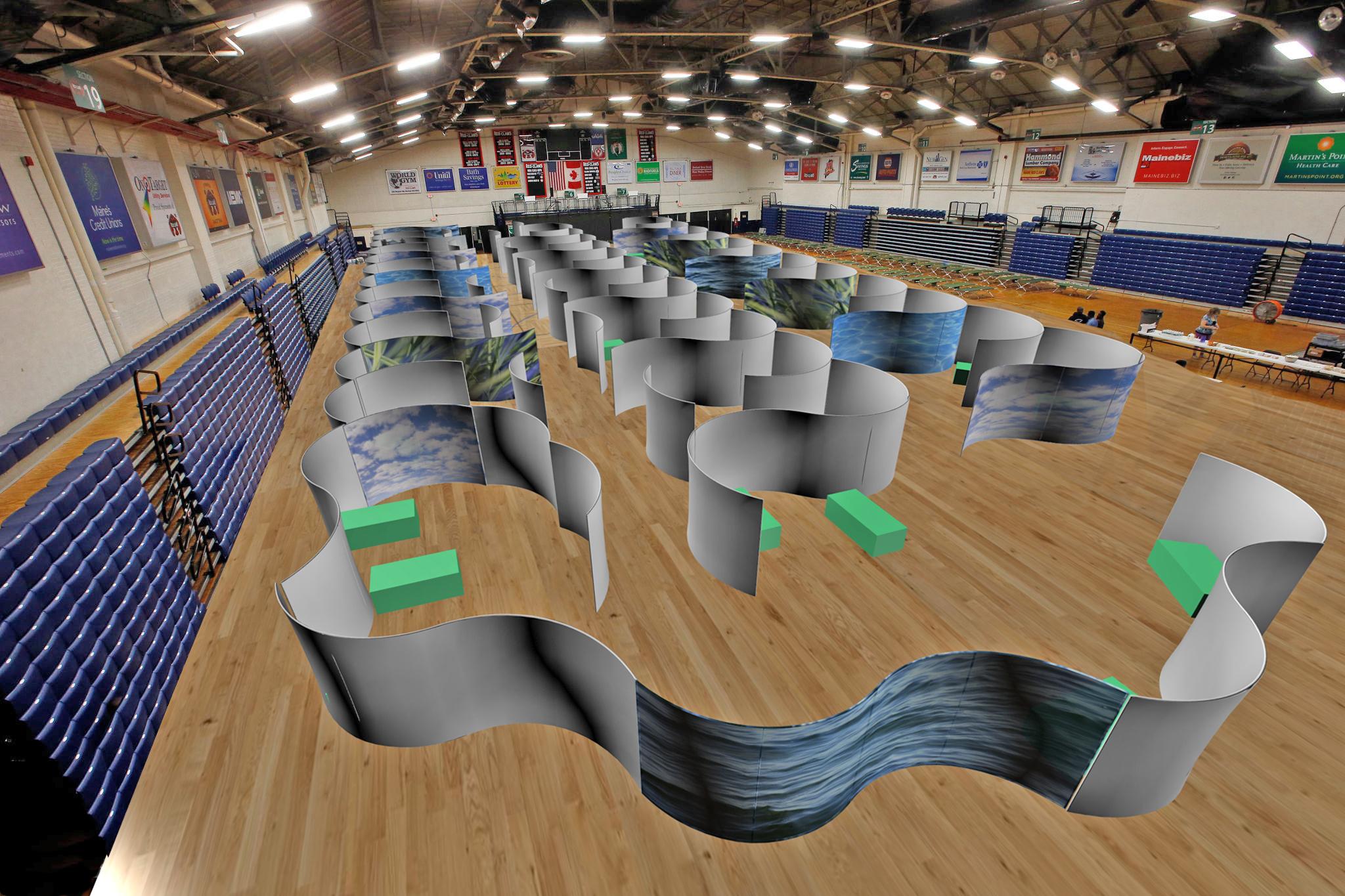 Social distancing rooms_Natura Walls